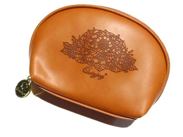 round pouch BROWN