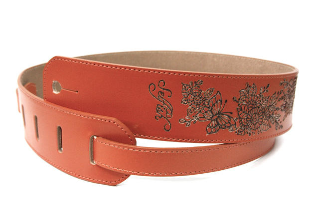 Selfish x Qutyjoy Martin Type Strap LEATHER BURNING【Valencia Orange】